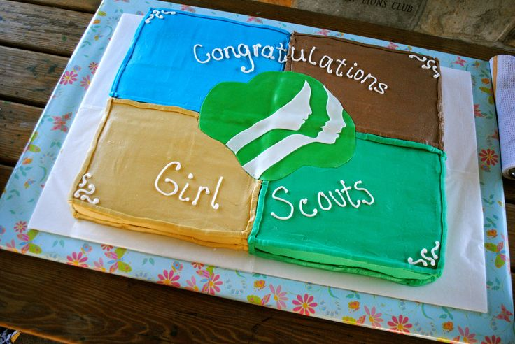 Girl Scout Cake for Bridging Ceremony (Use at end of girl scout celebration for ambassadors who have been in GS for 12 years)