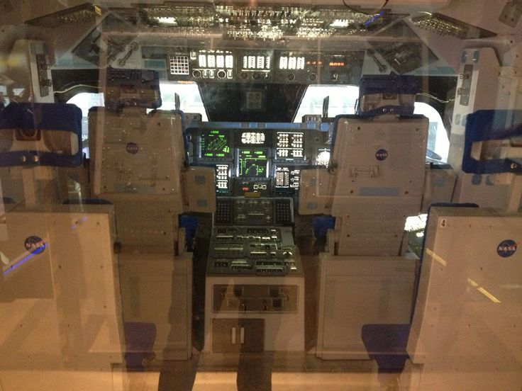 Cockpit of a spaceshuttle.