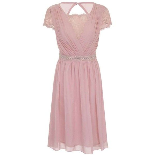**Little Mistress Curve Dusty Pink Fit and Flare Dress ($89) ❤ liked on Polyvore featuring dresses, pink, little mistress, pink dress, pink fit-and-flare dresses, reversible dress and little mistress dresses