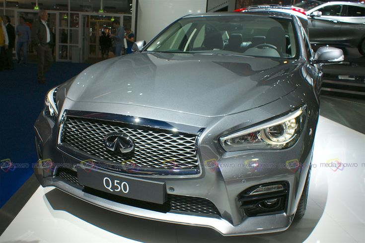 2016 Infiniti Q50 - Frontal View - Want to see more? Follow the link on the photo for Infiniti at IAA Frankfurt 2015!