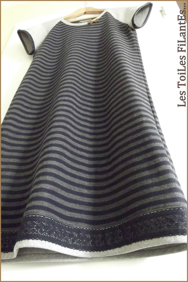 Robe maille rayée bleu marine grise5