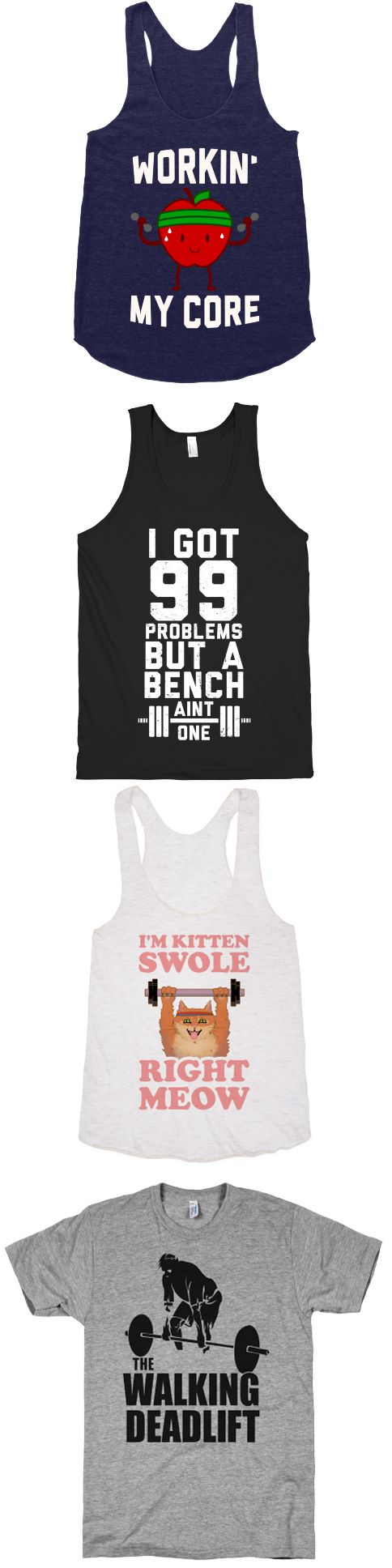 Get fit in the gym with these awesome designs.