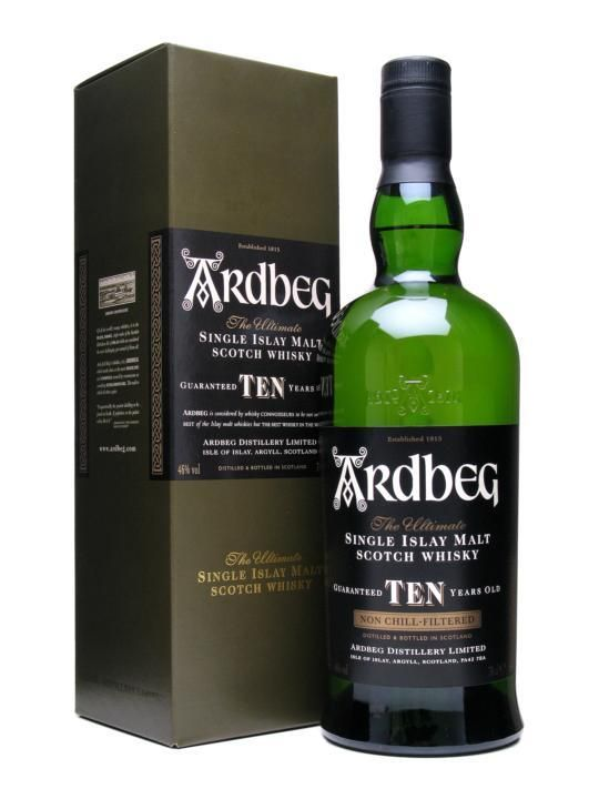 Ardbeg Ten Years Old is revered around the world as the peatiest, smokiest, most complex single malt of them all. Yet it does not flaunt the peat; rather it gives way to the natural sweetness of the malt to produce a whisky of perfect balance.