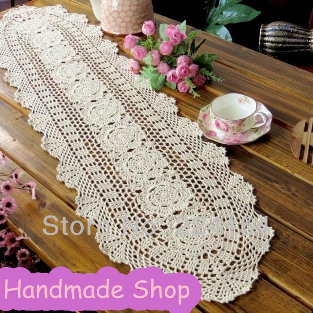 Knitted Table Runner Lace Pattern Choice Image - knitting patterns ...