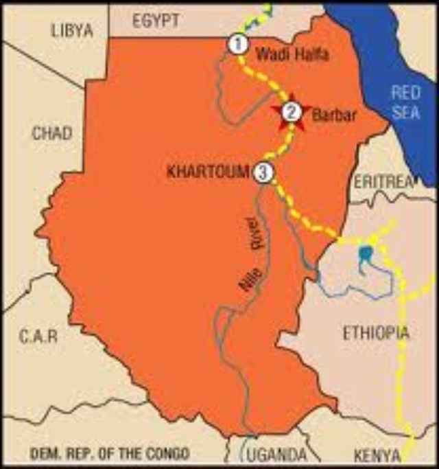 This Is The Nubian Desert Located In Sudan SEFANYAH - Map of egypt libya and sudan