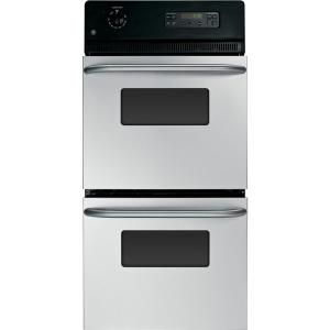 GE 24 in. Double Electric Wall Oven in Stainless Steel JRP28SKSS at The Home Depot - Mobile