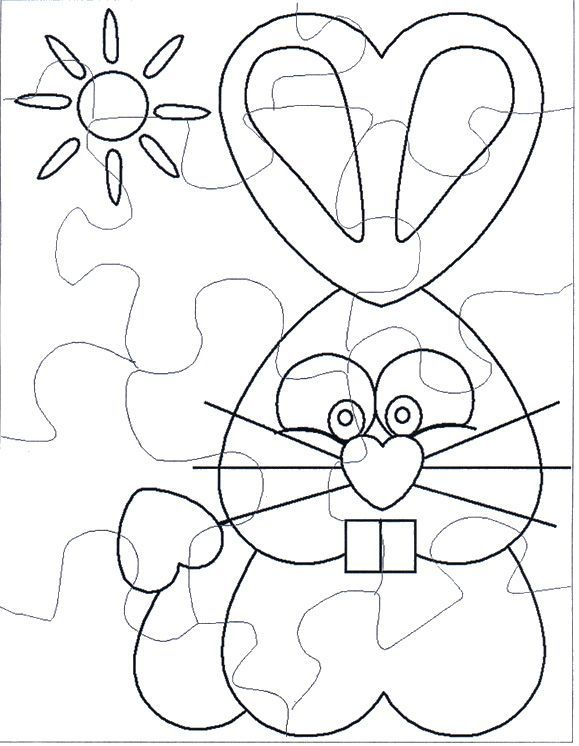 Blank Puzzle Piece Coloring  Coloring Pages