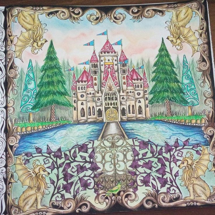 Coloring Books Colouring Johanna Basford Forests Castles