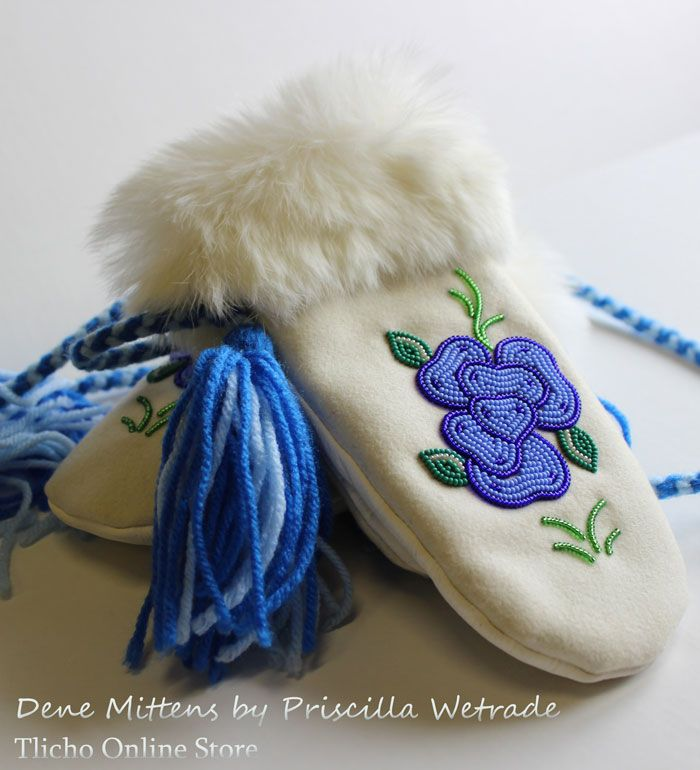 Dene Mittens by Priscilla Wetrade of Gameti, NT.