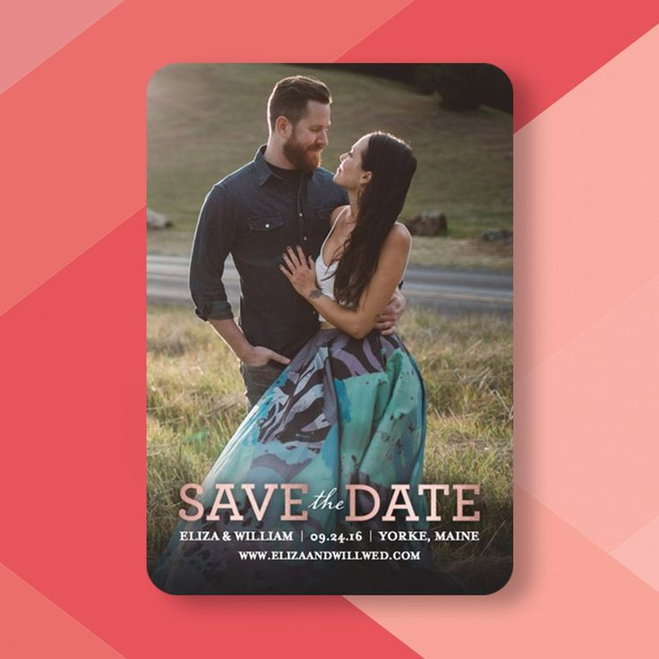 Picture yourself while browsing our foil-stamped save the dates. With Wedding Paper Divas My Photo feature you can see your favorite pic in every design at once.