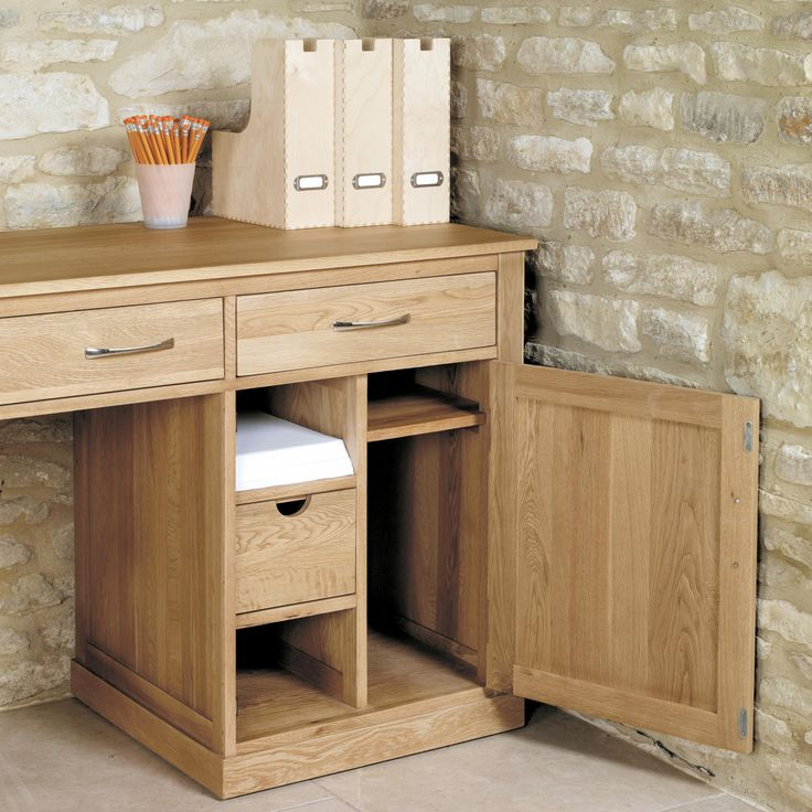 Mobel Oak Hideaway Computer Desk