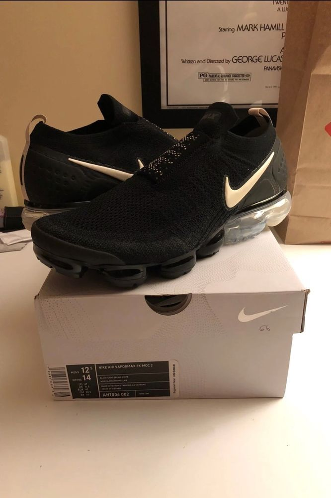 5a8d547b851 NIKE AIR VAPORMAX FLYKNIT MOC 2 AH7006-002 BLACK WHITE THUNDER GREY LIGHT  CREAM  fashion  clothing  shoes  accessories  mensshoes  athleticshoes  (ebay link)