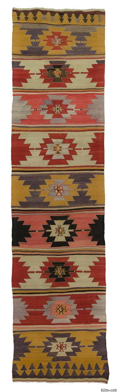 Antique Sivas Kilim Runner around 110 years old and in very good condition.