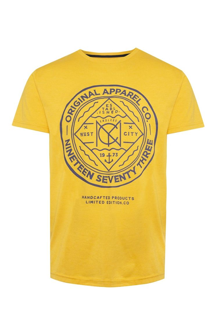 Primark - Yellow Apparel Print T-Shirt