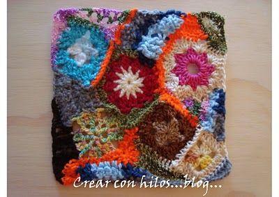 Freeform crochet using granny squares {photo tutorial}