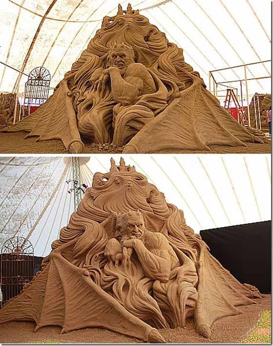 sand sculpture art