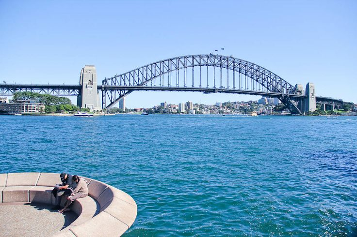 The Harbour bridge on a bright sunny day in Sydney..