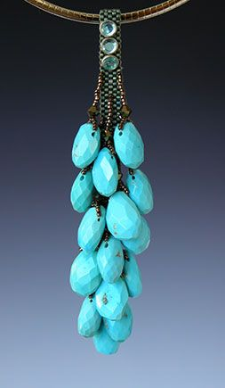 I Love the Beaded necklaces by Kay Bonitz, turquoise is my favorite gem... ❤