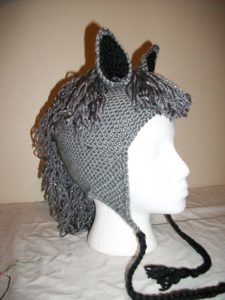 Free Crochet Pattern For Horse Hat : Crochet Horse Hat My Crocheted Creations For Sale ...
