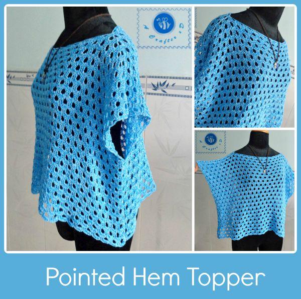 Crochet pointed hem topper - Maz Kwok's Designs