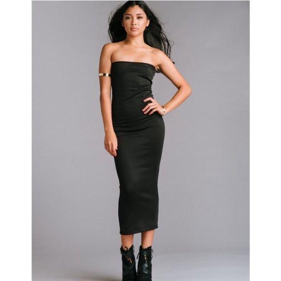 Sorella black tube dress Black tube dress Dresses Midi