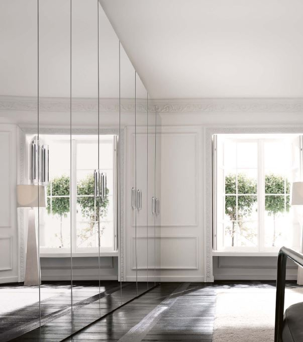 Benedetti #wardrobe with mirrors from the Dune collection
