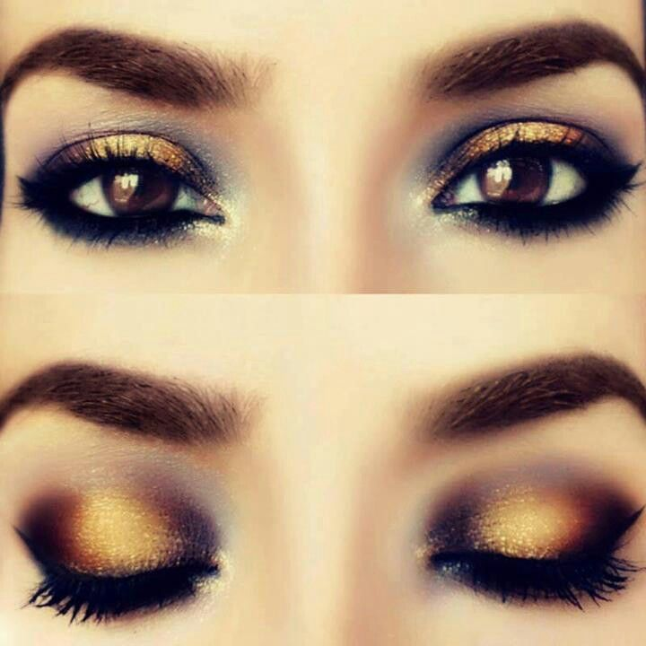 Happy New Years to my 47followers thank you:). Gold makeup . Want to Do this look for NewYears.