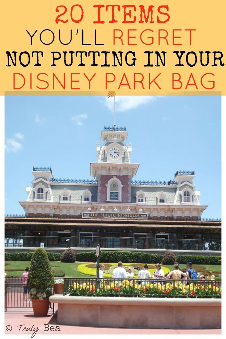 Packing your Disney Parks bag
