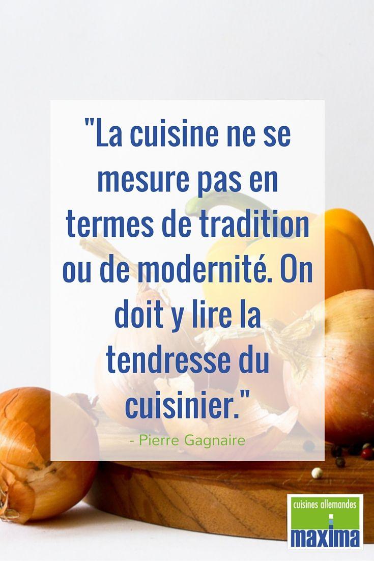 La cuisine ne se mesure pas en termes de tradition ou de - Mesure d hygiene en cuisine ...