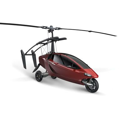The Helicycle - 2 seater, maximum speed 112mph, in the air or on the road....