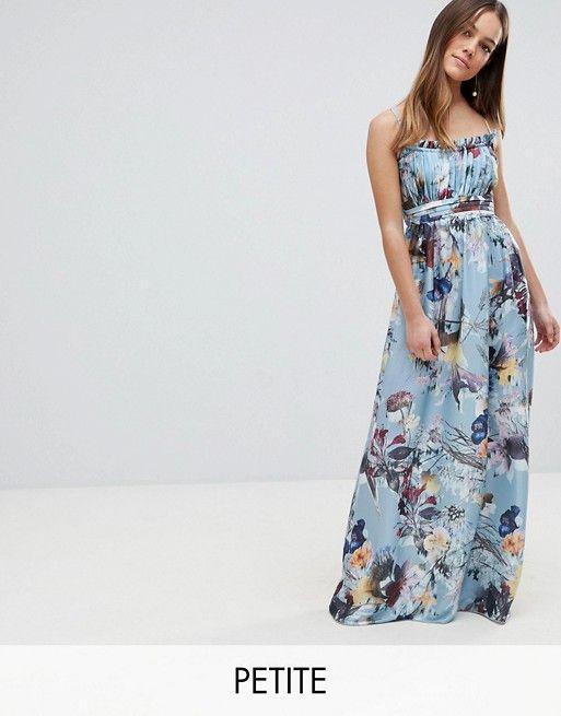 d8922bf2977 Little Mistress Petite Maxi Dress In Floral Print