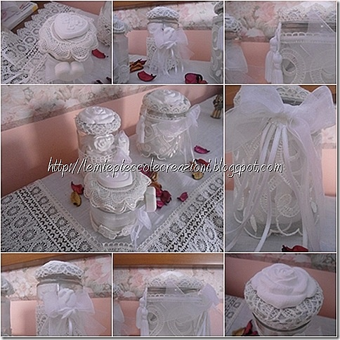 jars with plaster molds scented - barattoli con gessetti profumati