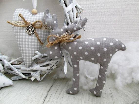 Set di 3 decorazioni di Natale decorazioni di Natale tessile | Etsy