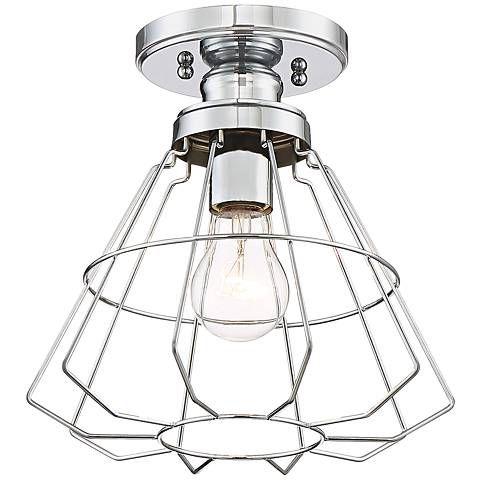 Nicholas 10 Wide Chrome Ceiling Light