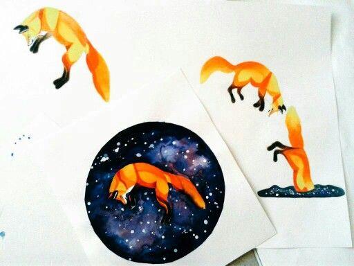 #zorro#acuarela#art#draw#fox#watercolor