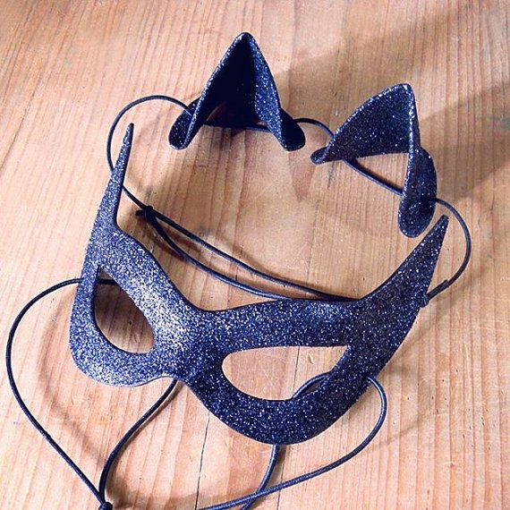 Catwoman Kit: Mask Cat Ears Julie Newmar Cosplay 1960 by LMEmasks