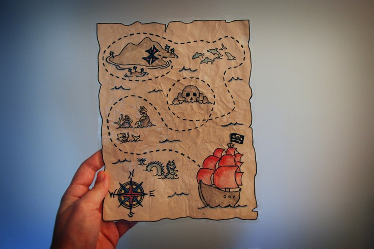 Treasure map tutorial Art Projects & Ideas Drawing