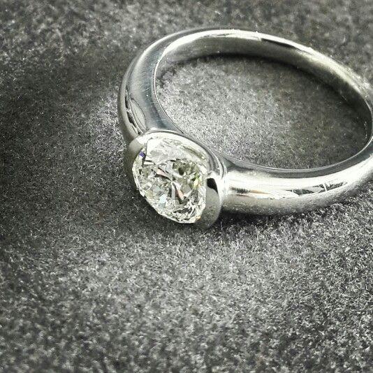 Africn - Diamonds - Platinum  Solitaire Diamond  and Platinum Engagement Ring.   #diamonds #platinum #africn #handcrafted #africndiamonds