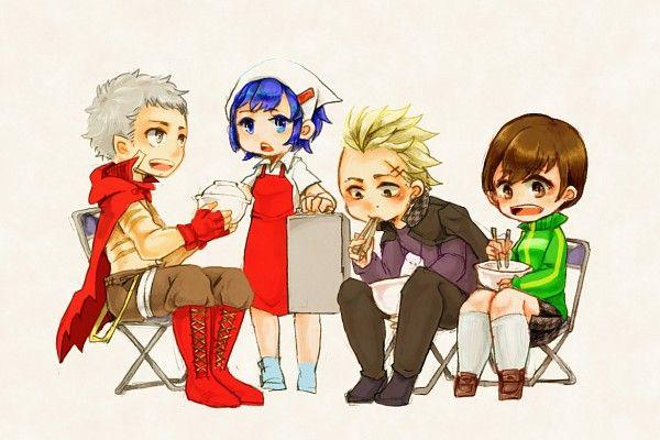Persona - Akihiko Sanada, Aika Nakamura, Kanji Tatsumi, Chie Satonaka