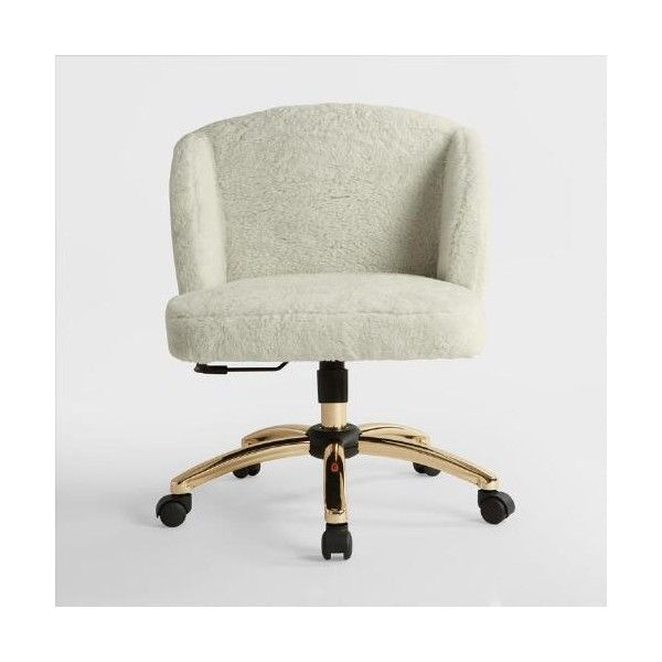 Cream Lucy Upholstered Office Chair World Market ($250) ❤ liked on Polyvore featuring home, furniture, chairs, office chairs, upholstered desk chair, beige office chair, swivel desk chair, swivel chairs and upholstered chairs