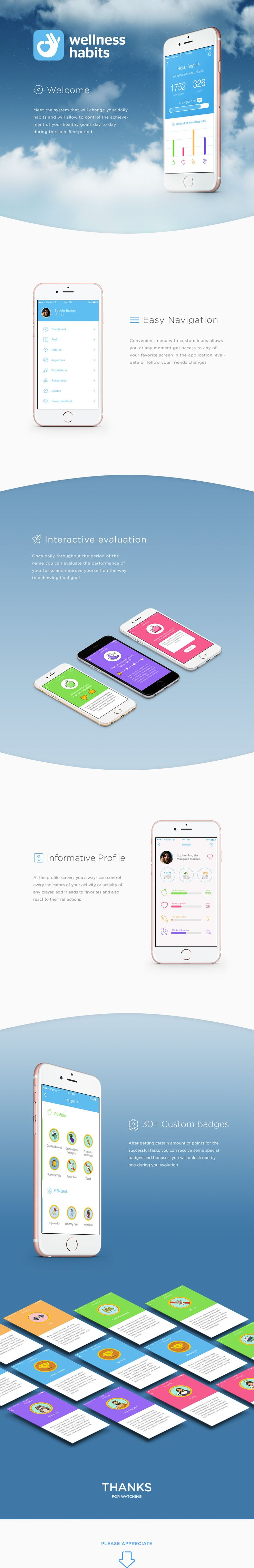 """다음 @Behance 프로젝트 확인: """"Wellness Habits - Improving Health and Activity Tracker"""" https://www.behance.net/gallery/44249649/Wellness-Habits-Improving-Health-and-Activity-Tracker"""