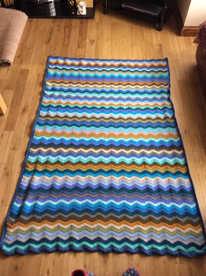 Coastal Ripple Blanket, the pattern came from Attic24. The first pattern I have ever used.