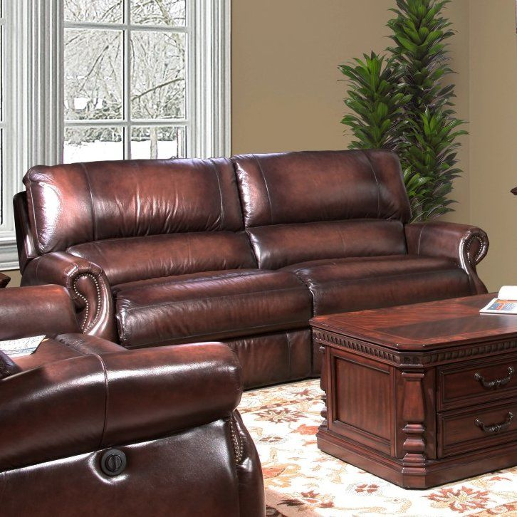 Hardcastle Hardcastle Leather Power Reclining Loveseat 1259