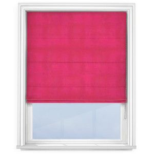cheap-fuchsia-pink-roman-blind