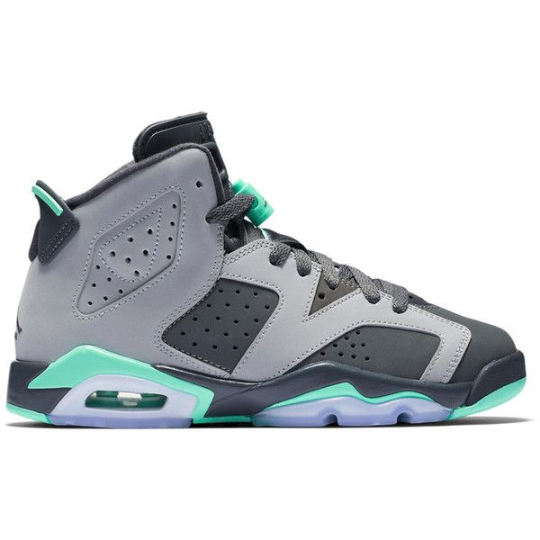 """Air Jordan 6 Retro GG """"Green Glow"""" ❤ liked on Polyvore featuring shoes, jordans and sneakers"""
