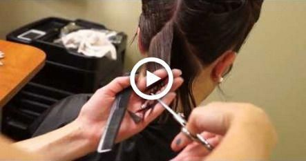A line Bob Haircut // Short Hair Tutorial // Hair 101 #hairstyles #alineBob