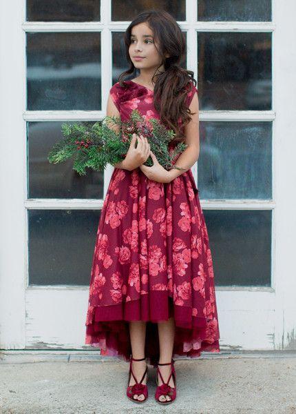 3d5c8e05907b4 Juliette Dress in Berry - Dresses - Clothing - Jeune Fille   Fancy ...