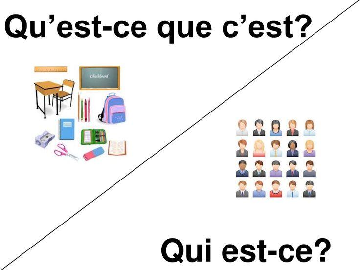 Qu'est-ce que c'est? vs Qui est-ce? by Virginia elcondefr via slideshare