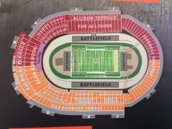 This listing is for 4 seats together for the Battle at Bristol between the…