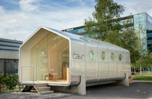 SCHIPHOL CBD * THE CABIN * A new innovative sustainable concept for pop up space for entrepreneurs at Amsterdam Airport Schiphol
